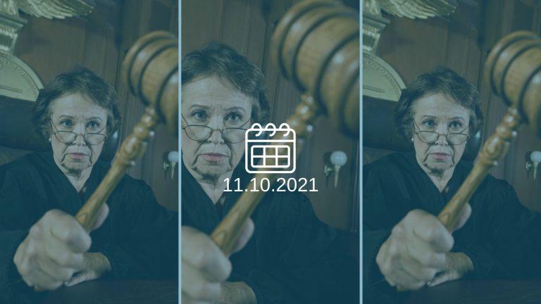 עניינים משפטיים על סדר היום